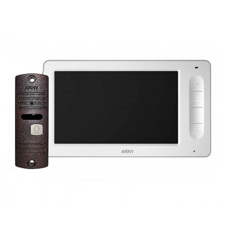 Цветной видеодомофон ARNY AVD-7005 (белый/медный) КОМПЛЕКТ