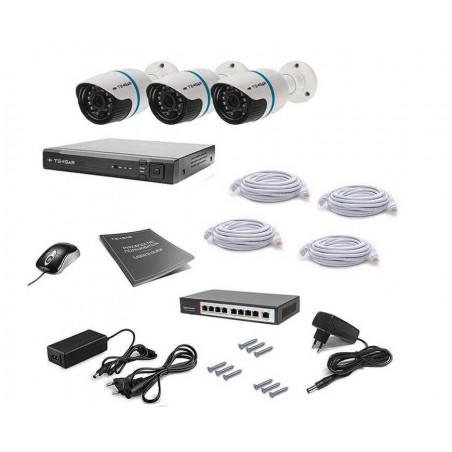Комплект IP видеонаблюдения Tecsar IP 3OUT