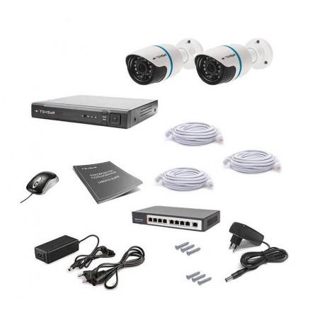Комплект IP видеонаблюдения Tecsar IP 2OUT