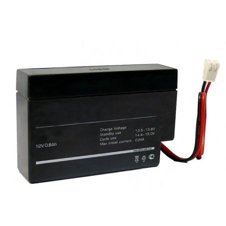 АКБ 0,8 А ч 12В (с проводами) ОиБ
