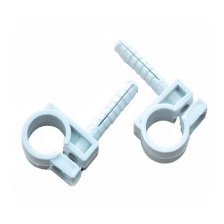 Обойма для труб и кабеля 18-20 мм з шур. 8х36 белая (50 шт)