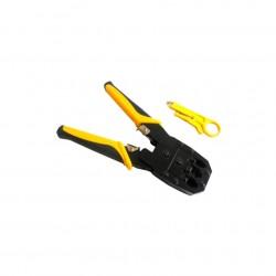 Инструмент BOSI для обжимки RJ-45 (8P8C) и RJ-12/11 (6P6C), 4P/6P/8P. Желтые