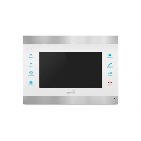 Цветной видеодомофон Slinex SL-07 IP белый + серебро