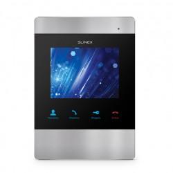 Цветной видеодомофон Slinex SM-04M черный + серебро