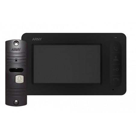 Цветной видеодомофон ARNY AVD-4005 (черный/кор) КОМПЛЕКТ