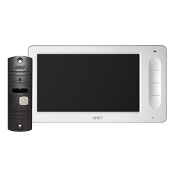 Кольоровий відеодомофон ARNY AVD-7005 (білий/кор) КОМПЛЕКТ
