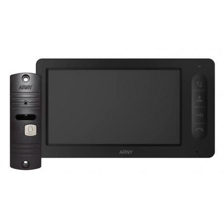 Цветной видеодомофон ARNY AVD-7005 (черный/кор) КОМПЛЕКТ