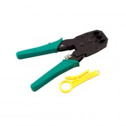 Инструмент MLT-4 для обжимки RJ-45 (8P8C) и RJ-12/11 (6P6C) 4P4C, Зеленые Q10