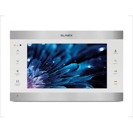 Цветной видеодомофон Slinex SL-10IPT белый + серебро