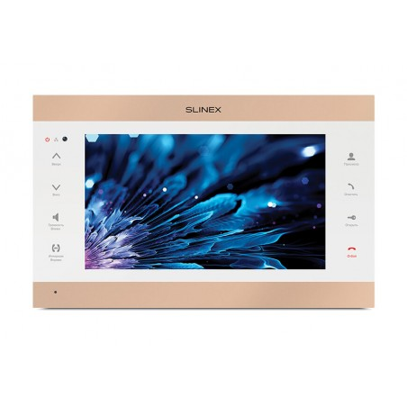 Цветной видеодомофон Slinex SL-10IPT белый + золото