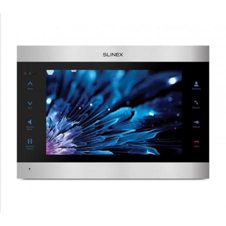 Цветной видеодомофон Slinex SL-10IPT черный + серебро